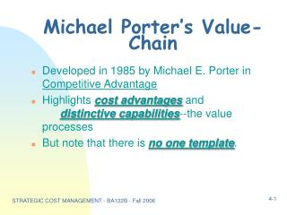 Michael Porter's Value-Chain