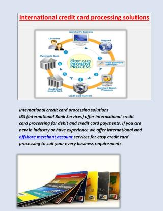 International merchant account services