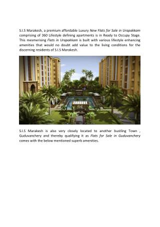 New Flats for sale in Urapakkam