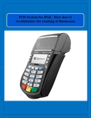 POS System for iPad - How does it revolutionize the running of Businesses