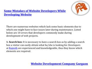 Some mistakes of website developers while developing website