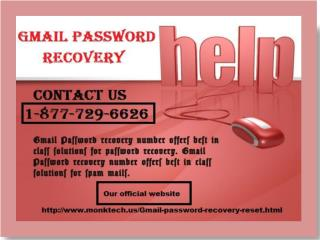 Master guidance for Reset Gmail Password Call 1-877-729-6626 Toll-free