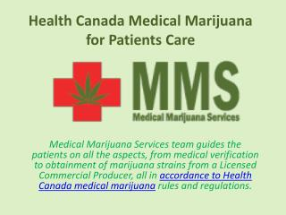 Health Canada Medical Marijuana for Patients Care