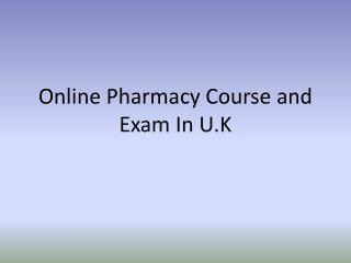 Online Prepfor Pre-Reg Pharmacy Course & Exam In UK