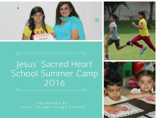 Jesus sacred heart summer camp'16