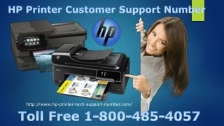 HP Printer Customer Support Number 1-800-485-4057