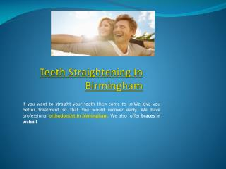 orthodontist in walsall