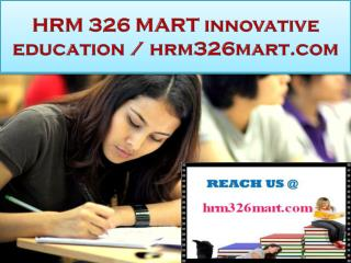 HRM 326 MART innovative education / hrm326mart.com