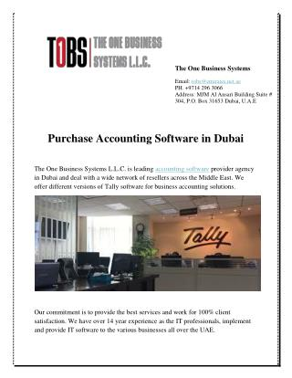 Purchase Accounting Software in Dubai