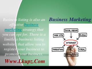 Business Marketing And Advertising