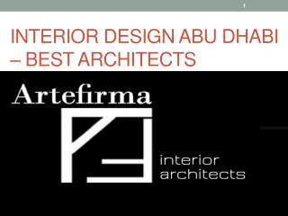 Interior Design Abu Dhabi Meet Best Architect Design On Nowadays