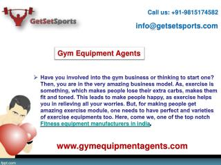 Gym Equipment Agents-  Absolute fitness equipment manufacturer in India