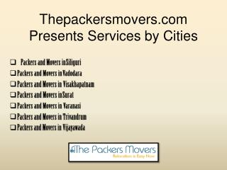 Best and Reliable Packers and Movers in Different Cities