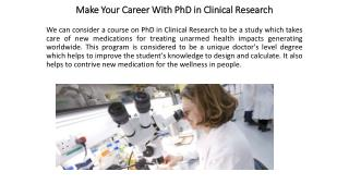 Phd In Clinical Research