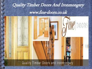 Internal and external wooden doors   fine doors