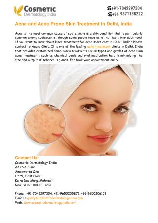 Skin Acne Treatment in Delhi India