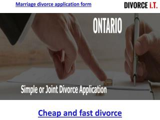 Joint divorce application form