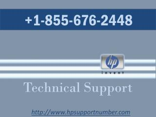 HP Support Number  1-855-676-2448
