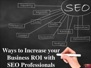 Ways to Increase your Business ROI with SEO Professionals