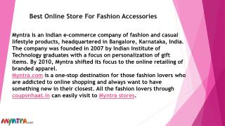 Best online store for fashion accessories