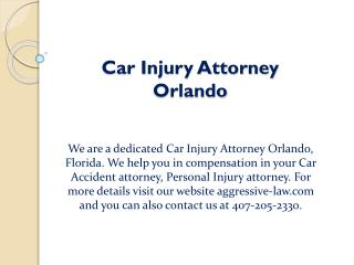 Car Injury Attorney Orlando