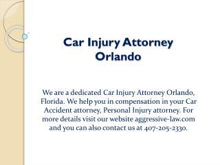 Car Injury Attorney Orlando