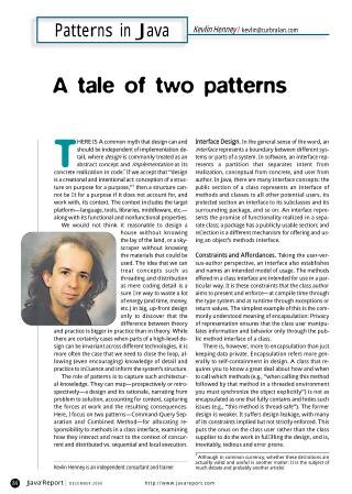 A Tale of Two Patterns