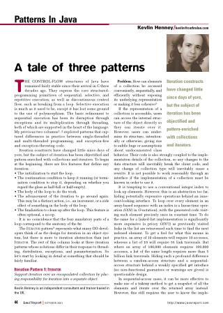 A Tale of Three Patterns
