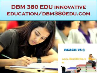DBM 380 EDU innovative education/dbm380edu.com