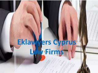 Eklawyers Cyprus Law Firms