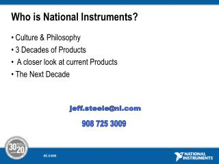 Who is National Instruments?