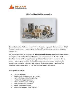 High Precision Machining suppliers