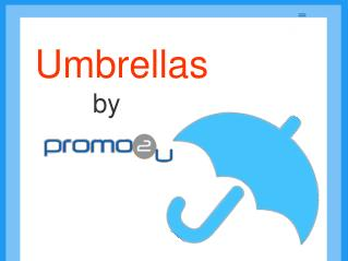 Umbrellas By Promo 2U