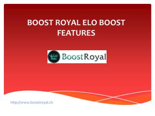 Boost Royal Elo Boost Features