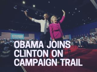 Obama joins Clinton on campaign trail