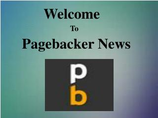 Online News Publish | Pagebacker News