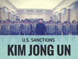 U.S. sanctions Kim Jong Un