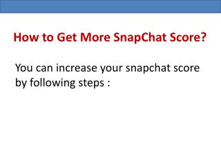 Buy Snapchat Score At Affordable Prices