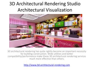 3D Architectural Rendering Studio Architectural Visualization