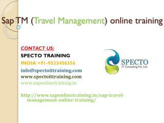 sap tm online training | online training sap tm