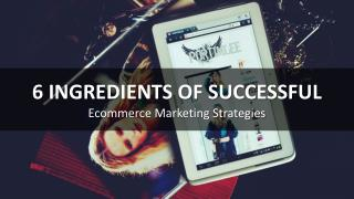 6 Ingredients of Successful Ecommerce Marketing Strategies