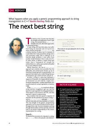 The Next Best String