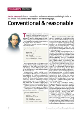 Conventional and Reasonable