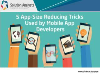5 App Size Reducing Tricks Used by Mobile App Development Companies