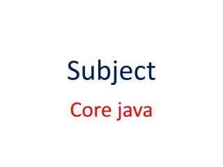 Core Java Course in Pune