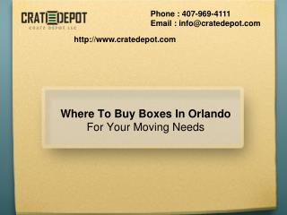 Where To Buy Boxes In Orlando