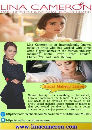 Learn Bridal Makeup Lesson - LINA CAMERON