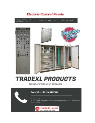 TradeXL - Electric control panel manufacturers and suppliers in India