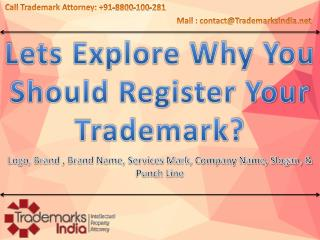 Why you should register your trademark?