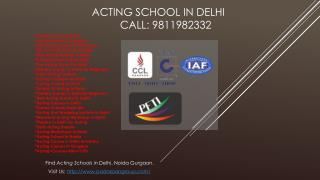 Acting School in Delhi, Acting Course After 12th, Acting Course in Delhi University, Best Colleges For Theater and Drama